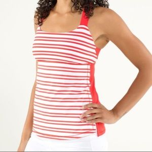 Lululemon Track and Train striped tank top